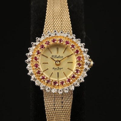 Dufonte Lucien Piccard  Ruby and Diamond Wristwatch
