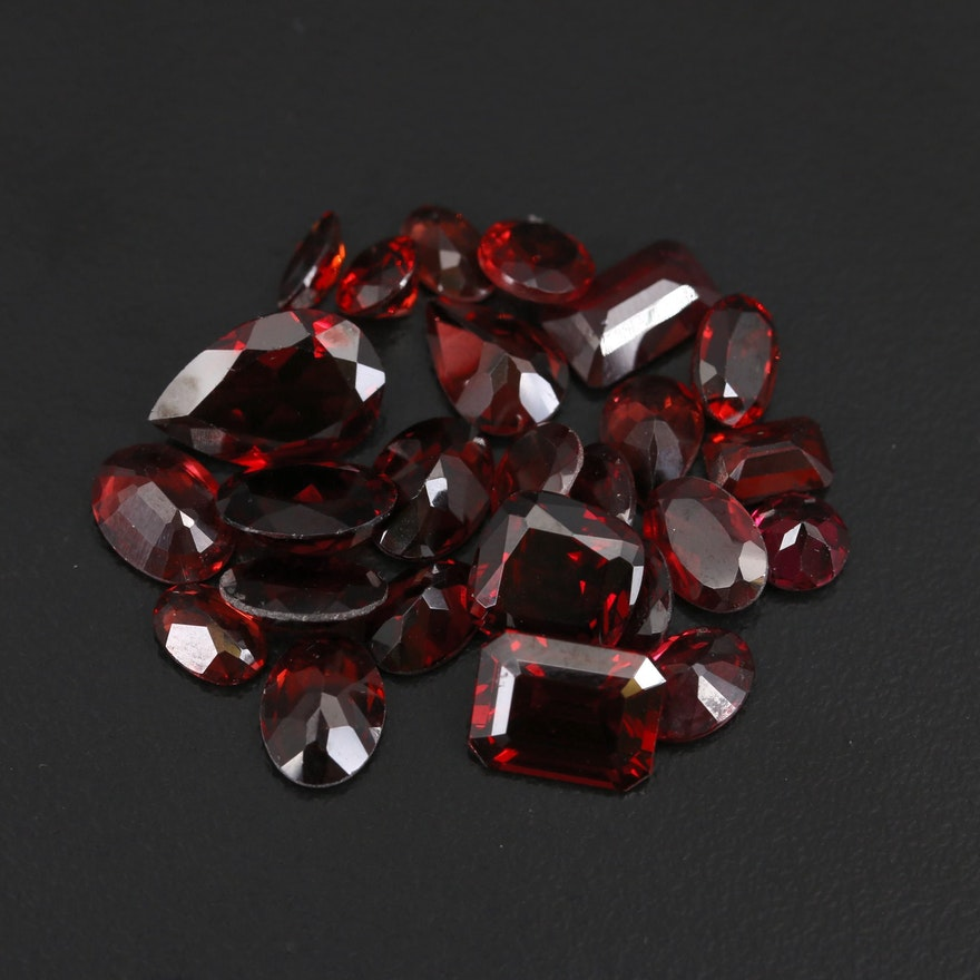 Loose 29.28 CTW Faceted Garnets