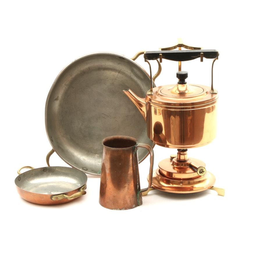 Landers, Frary & Clark and Other Copper Cookware and Tea Kettle