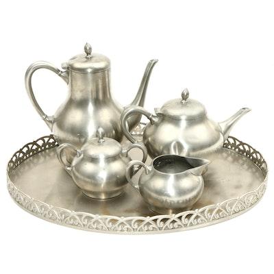 Metawa Holland Pewter Tea Service Set, 20th Century