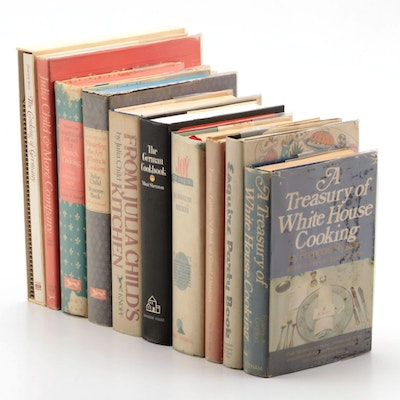 "First Edition ""Mastering the Art of French Cooking,"" Vol. II and More Cookbooks"