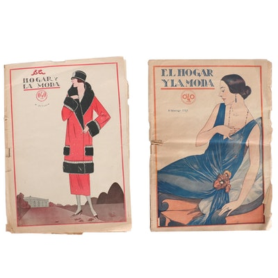 """El Hogar y la Moda"" Women's Magazine Issues, 1924"