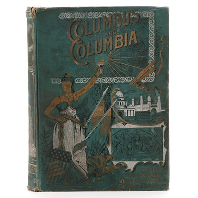 "Illustrated ""Columbus and Columbia"" by James G. Blaine et al., 1893"