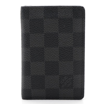 Louis Vuitton Pocket Organizer Wallet in Damier Graphite Canvas