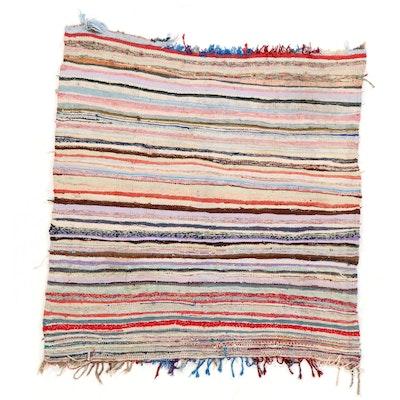 5'7 x 5'11 Handwoven Rag Rug