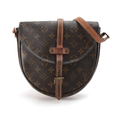 Louis Vuitton Chantilly PM Crossbody Bag in Monogram Canvas with Leather Trim
