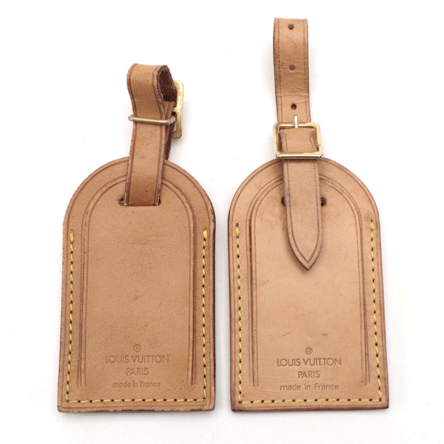 Louis Vuitton Luggage Tags in Vachetta Leather