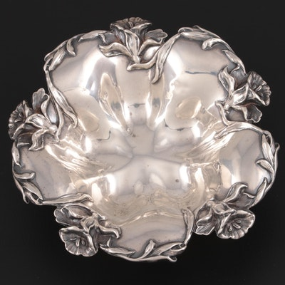 William B. Kerr & Co. Art Nouveau Sterling Silver Bonbon Bowl