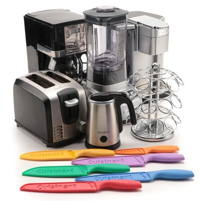 Mr Coffee, Cuisinart, and Other Kitchen Appliances, Knives and Cup Stand