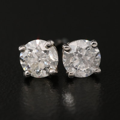 14K 0.82 CTW Diamond Stud Earrings