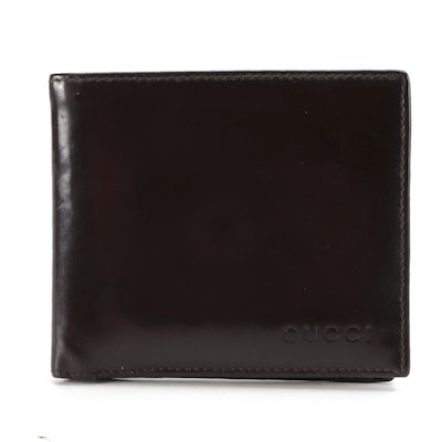 Gucci Bifold Wallet in Brown Glazed Leather