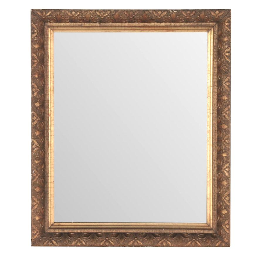 Rectangular Giltwood Foliate Wall Mirror