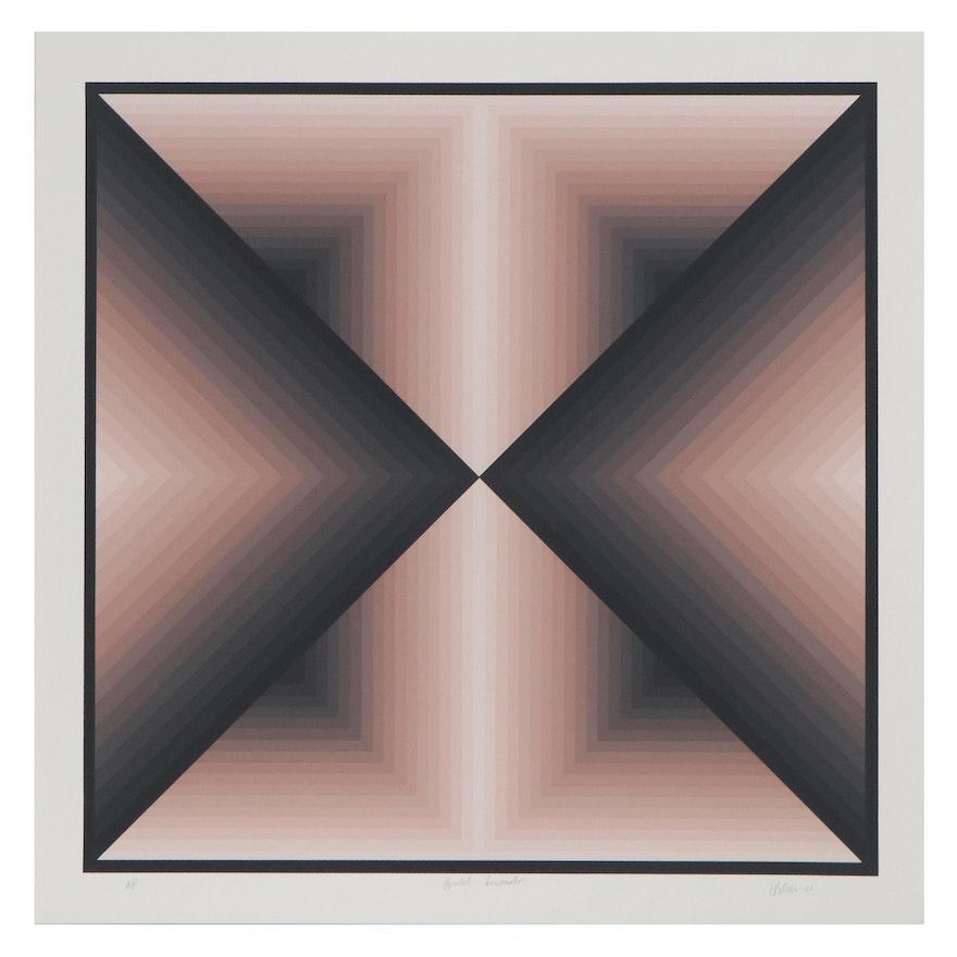 "Jurgen Peters Serigraph ""Pointed Encounter,"" 1980"