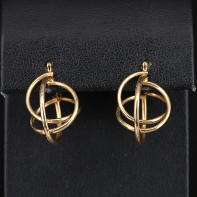 14K Overlapping Hoop Earrings