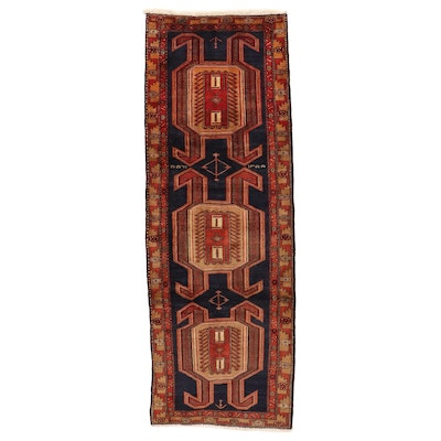 3'11 x 11'1 Hand-Knotted Northwest Persian Long Rug, 1960s