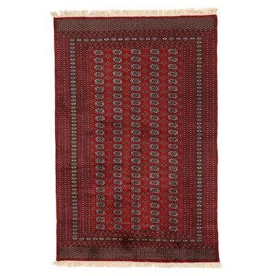 6'1 x 9'8 Hand-Knotted Pakistani Turkmen Bokhara Rug, 2000s