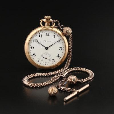 1918 Waltham U.S.A. Pocket Watch with Fob Chain