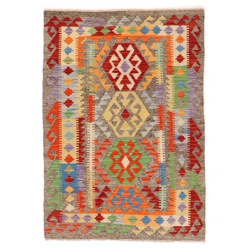 3'4 x 4'10 Handwoven Afghan Kilim Area Rug
