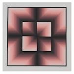 "Jurgen Peters Op Art Serigraph ""Window Motif,"" 1982"