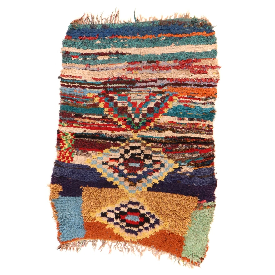 3'10 x 5'10 Hand-Knotted Rag Rug