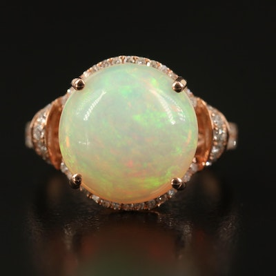 EFFY 14K Rose Gold Opal and Diamond Ring