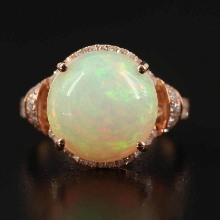 EFFY 14K Rose Gold Opal and Diamond Ring