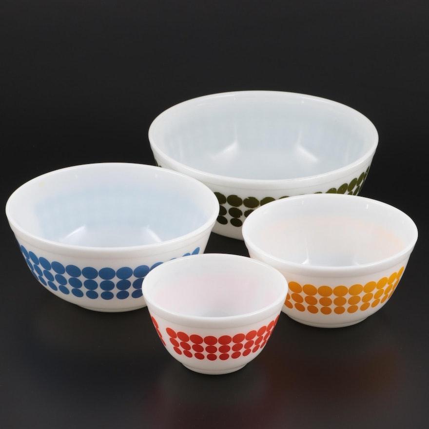 """Pyrex """"Dot"""" Glass Mixing Bowl Set, 1968–1972"""