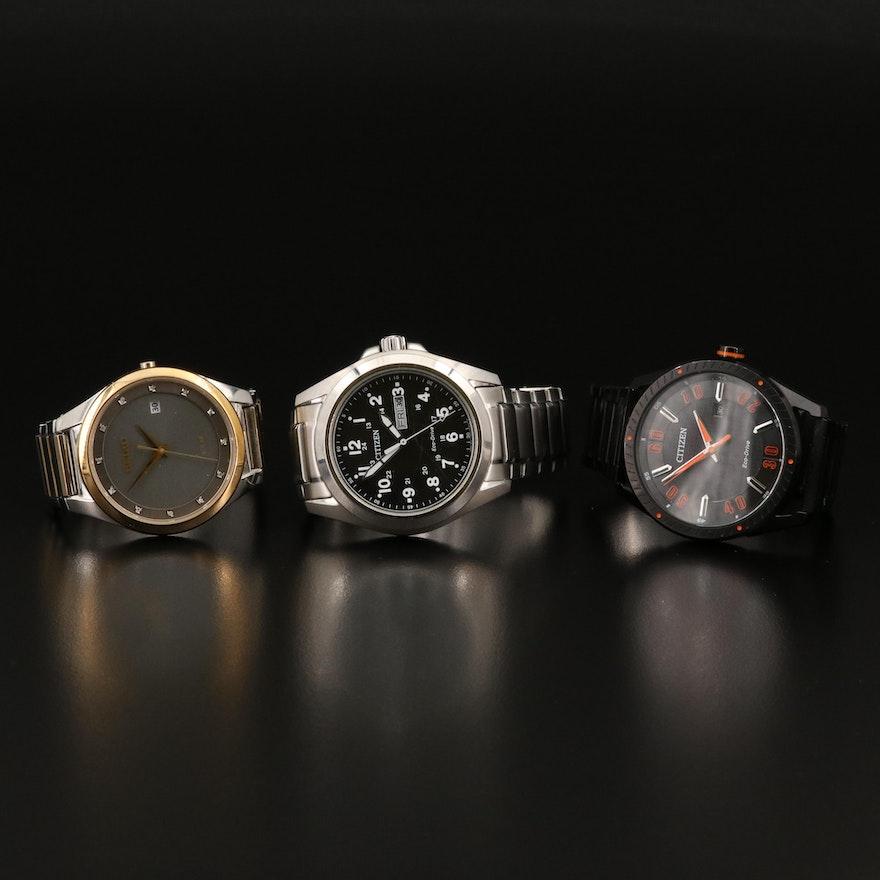 Seiko and Citizen Light Powered Wristwatches
