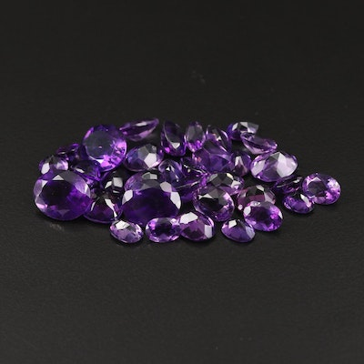 Loose 49.50 CTW Mixed Faceted Amethyst