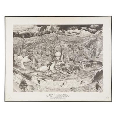 "Petrus Boots Offset Lithograph ""Mandala,"" 1994"