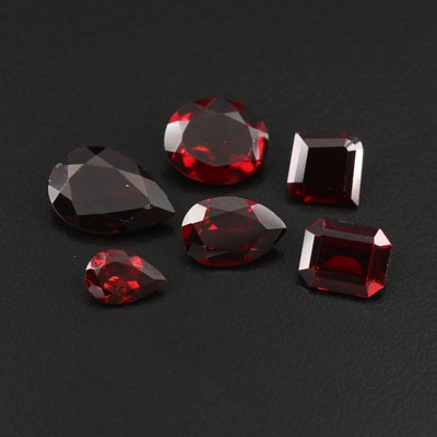 Loose 21.91 CTW Mixed Faceted Garnet