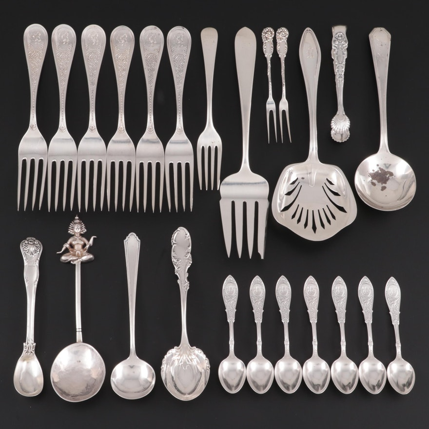 Towle, Reed & Barton and Other Sterling Silver Serving Utensils and Flatware