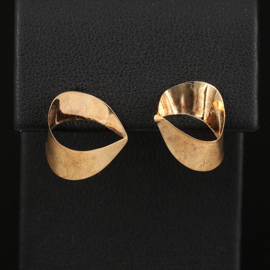14K Abstract Earrings