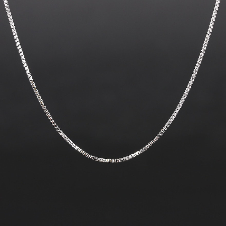 Italian Sterling Box Link Necklace