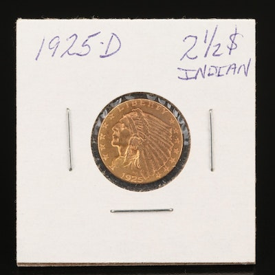 1925-D Indian Head $2.50 Gold Quarter Eagle