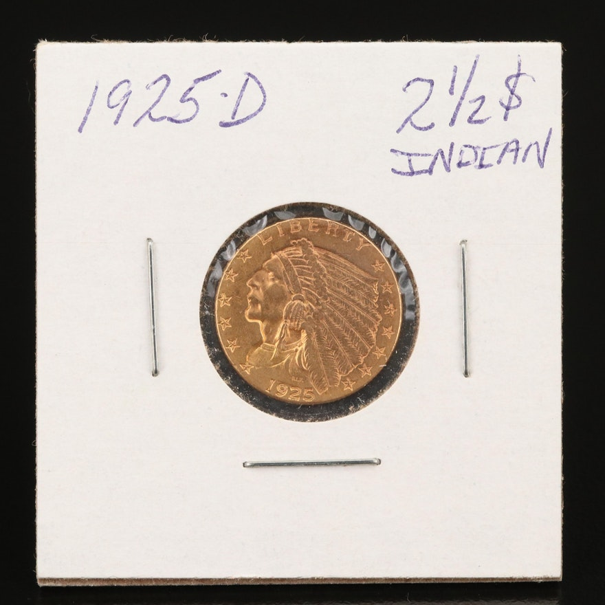 1925-D Indian Head $2.50 Gold Quarter Eagle