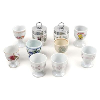 Royal Worcester Porcelain Egg Coddlers and Assorted Egg Cups