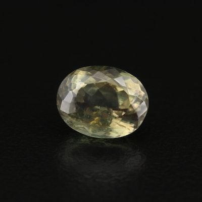 Loose 2.83 CT Oval Faceted Chrysoberyl