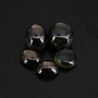 Loose Star Sapphire and Black Star Sapphire Oval and Round Cabochons