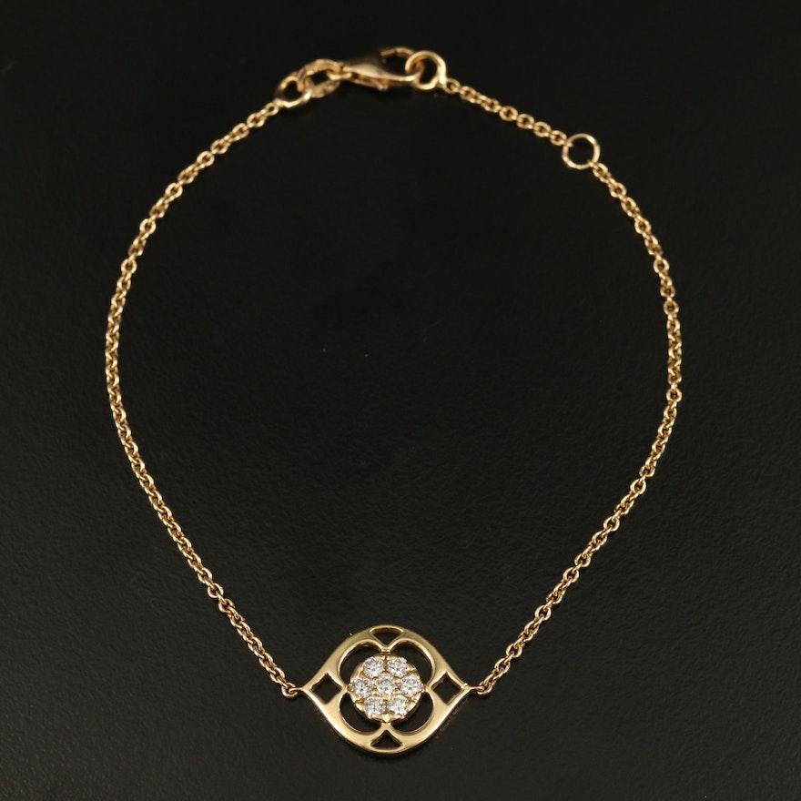 Italian 18K Diamond Bracelet