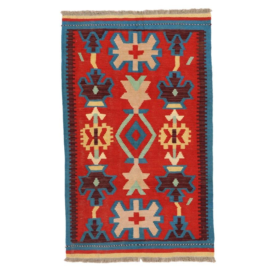 2'11 x 5' Handwoven Afghan Kilim Accent Rug
