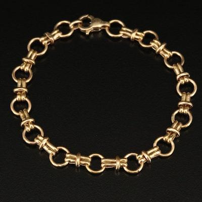 Italian 14K Fancy Link Bracelet