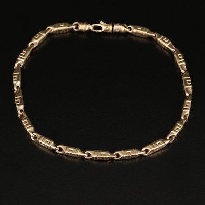 10K Baht Style Link Bracelet