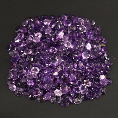 Loose 149.18 CTW Oval Faceted Amethysts