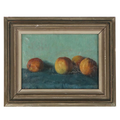 Heinrich Werner Still Life Oil Painting with Apples, 1907