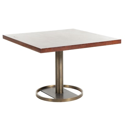 Gianni Furniture for Office Suites Mid Century Modern Wood and Metal Table