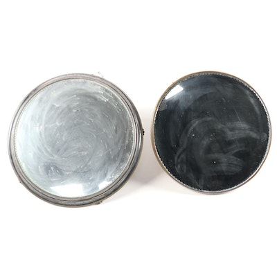Two Silver Plated Mirrored Plateau
