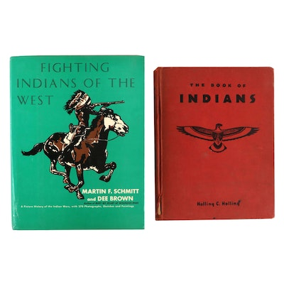 """The Book of Indians"" by Schmitt and Brown with ""Fighting Indians of the West"""