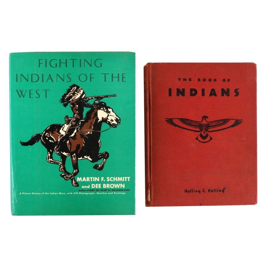 """""""The Book of Indians"""" by Schmitt and Brown with """"Fighting Indians of the West"""""""