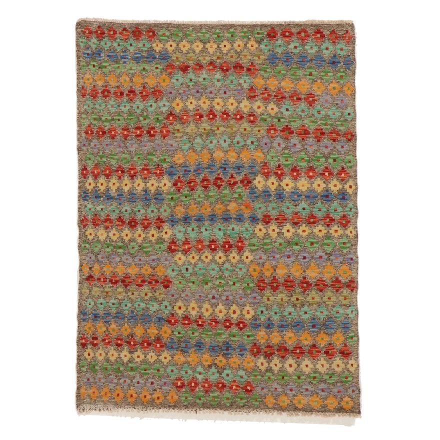 3'6 x 4'11 Handwoven Afghan Kilim Area Rug